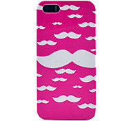 Pink Cloud Goatee Pattern Plastic Back Case for iPhone 5/5S