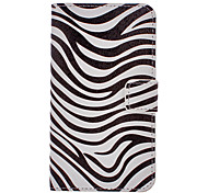 Zebra-Stripe Drawing Pattern PU Leather Plastic Hard Back Cover Pouches for Samsung Galaxy Note3 N9000