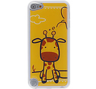 Cartoon Style Little Eyes Cow Pattern Epoxy Hard Case for iPod Touch 5