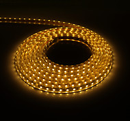 5M 300x5050SMD 3000K Warm White Light PCB Waterproof LED Strip Light with Plug (220V)