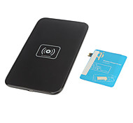 Wireless Charger Pad & Receiver with AWG AC Adapter and Wireless Accept for Samsung Galaxy S3 I9300(Black)