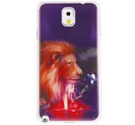 Lion and Girl Painting Pattern Plastic Hard Back Case Cover for Samsung Galaxy Note3 N9000