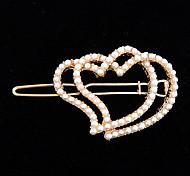 Korean Fashion Full-Pearl Heart&Heart Hair Clips