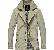 Men'S Casual Trench Coat