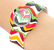 Children's Colorful Arrow Pattern Bendable Plastic Band Slap Watch Cool Watches Unique Watches
