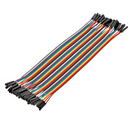 40Pin 1P-1P Female to Female Dupont Line Colorful Dupont Wire(20CM)