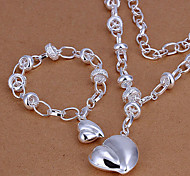 weet ilver Plated (Necklace & Bracelet) Jewelry et (ilver)