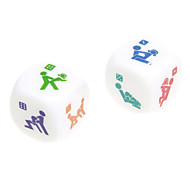 3cm 2pcs White ABS Funny Dices