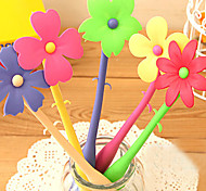 Flexible Bending Flower Style Ballpoint Pen (Random Color)