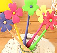 Flexible Bending Flower Style Ballpoint Pen (Random Color)