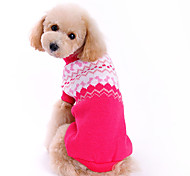 Dog Sweater Rose Dog Clothes Winter Bowknot Fashion