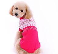 Invierno - Rosa - Moda - Tejido de lana - Suéteres - Perros - XS / S / M / L / XL
