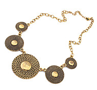 Vintage Round Statement Necklace