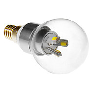 Candle Bulbs , E14 3 W SMD 5630 LM Cool White AC 85-265 V