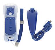 Fernbedienung mit Silikonhülle Nunchuk Controller für Wii (Dark Blue)