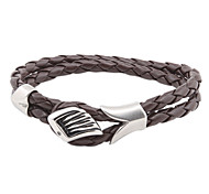 Men's Wings Leather Wrap Bracelet