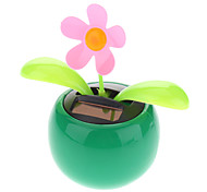 Solar Powered Decorative Flip Flap Flower for Cars