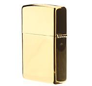 Gold Metal Single Frame Oil Lighter