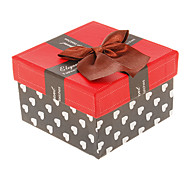 (1pc)Classic Red&Black Paper Jewelry Box For Watch