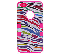 2-in-1 Design Zebra Stripe Pattern Silicone Case with Hard Inside Cover for iPhone 5/5S (Assorted Colors)