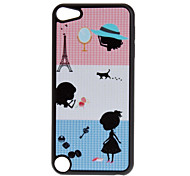 Shimmering Preto Lovely Little Girl Padrão Hard Case para iPod touch 5
