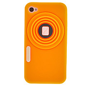 Vintage Camera Style Silicone Protective Case for iPhone 4/4S(Assorted Color)