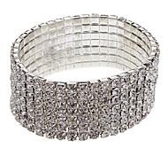 (1 Stk.) Klassische 6cm Women'S Strass 7-Schichten Tennis Armband