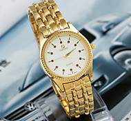 Women'S Round Alloy Quartz Analog Dress Watch