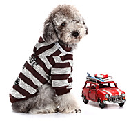 Fashion Zebra Rhinestone Cross Decorated Warm Sweater with Hoodies for Pets Dogs (Assorted Sizes)
