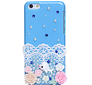 Blue Ocean Dolphin Jewel Covered Cases for iPhone 5C