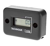 Waterproof LCD Screen Display Tachometer Hour Meter for 2 Stroke Motorcycle Engine