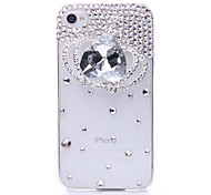Crystal Crown Pattern Metal Jewelry Back Case for iPhone 4/4S