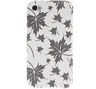 Shimmering Maple Leaf Pattern PC Hard Case for iPhone 4/4S (Assorted Colors)