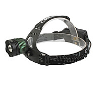 GD18 3-Mode Rechargeable Cree XM-L T6 LED Zoom Bicycle Light/Headlamp (1000LM, 2x18650, Black+Green)