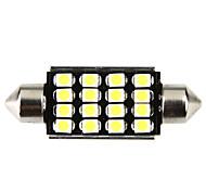 42mm 16 1210 SMD LED Canbus weiße Auto-Innenhaube-Girlande-Licht-Lampen-Leuchtmittel