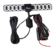 In Car TV & Radio Antenna With Amplifier Dc Plug With Sticker Vhf Uhf Radio Band