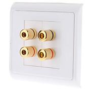 Alta calidad del plátano poste obligatorio de dos piezas de inserción placa de pared de 2 altavoces - Tipo de acoplamiento