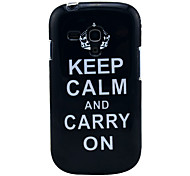 Keep Calm and Carry On Black TPU Soft Case for Samsung Galaxy S3 Mini I8190