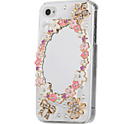 Lace Mirror Ornament Jewelry Case for iPhone 4/4S(Assorted Color)