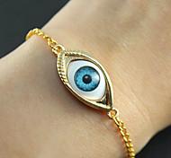 Fashion 7Cm Women'S Golden Alloy Chain & Link Bracelet(Golden)(1 Pc)