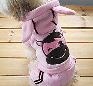 Dog Hoodie / Pants Pink Winter Animal