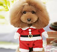 Lovely Christmas Santa Claus traje traje caliente con el sombrero de Mascotas Dogs (sizs surtidos)