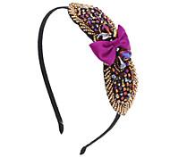 Moda Real Rosa / Cinza / Roxo / Ouro Headbands de cristal para as mulheres