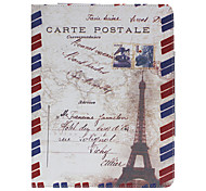 Carte Postal Pattern Protective Case for iPad 2/3/4