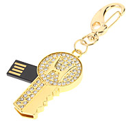 Gold Key recurso USB Flash Drive 8GB