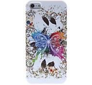 Increíble Diseñado mariposa patrón Funda de silicona para el iPhone 5/5S grande