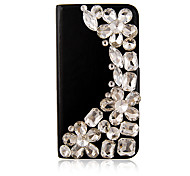 Zircon PU Leather Full Body Case for iPhone 4/4S(Assorted Color)