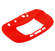 Cubierta suave de silicona protectora para Wii U consola Nintendo Game (Rojo)