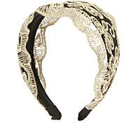 (1 Pc)Sweet Golden Lace Headbands For Women