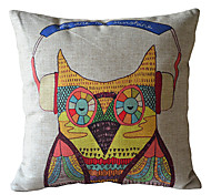 Cool Owl Decorative Pillow Cover